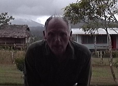 American explorer gets a selfie near Gomlongon Village, Umboi Island